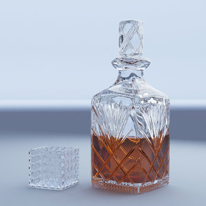 crystal decanter glass 3D model