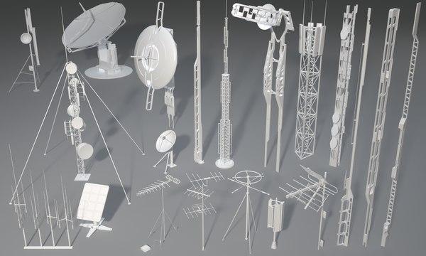 3D 20 pieces antennas