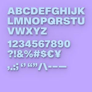 3D ht standard font 76