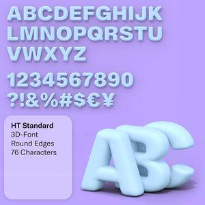 ht standard font 76 3D
