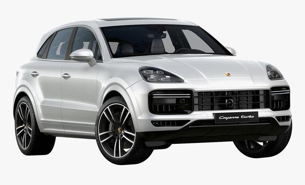 3d 2019 Porsche Cayenne Turbo Turbosquid 1420710