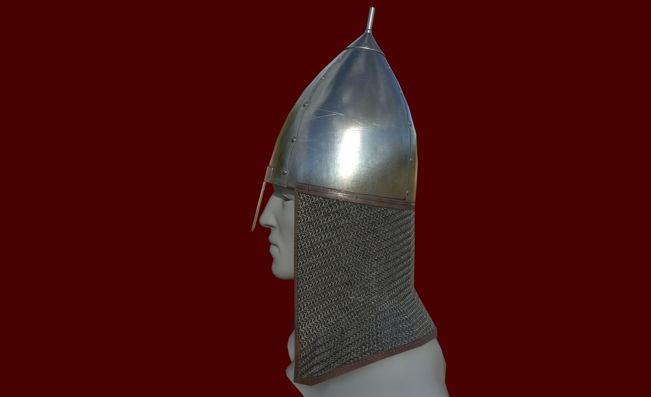 3D model low-poly helmet
