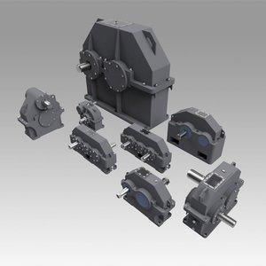 3D gearbox gear model