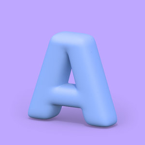 ht standard font hard 3D model
