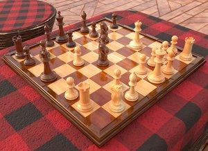 3D model chess board