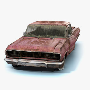 3D low-poly muscle car model