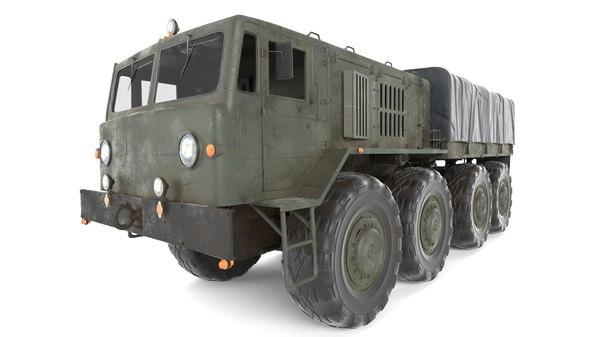 3D soviet truck maz 535 model