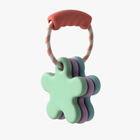 3D baby rattle