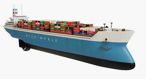 container ship 3D model