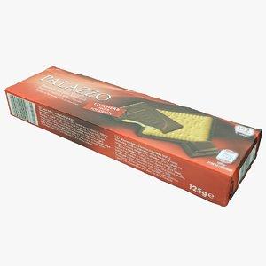 3D cookie package model