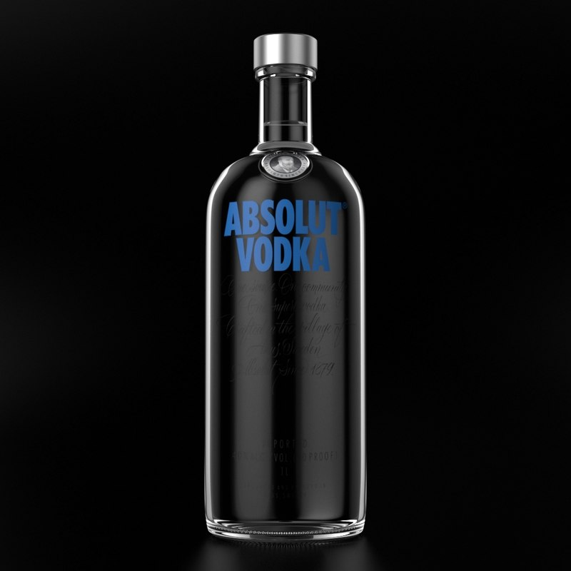 absolut vodka 3D