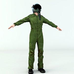 3D jet fighter pilot