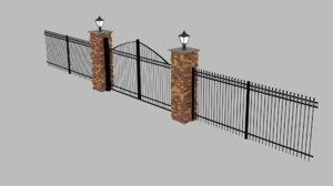 fence gate architecture model