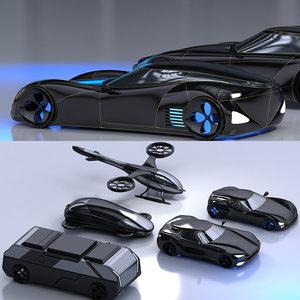 concept cars 3D model