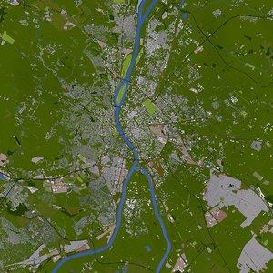 3D budapest hungary europe model