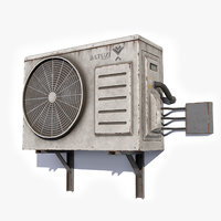 Air Conditioner 2 Low Poly