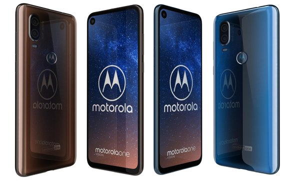 motorola vision bronze gradient 3D model