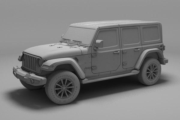 3D jeep wrangler unlimited model