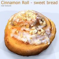 3D cinnamon roll