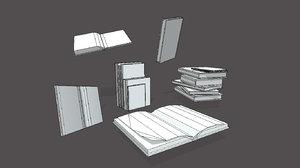 3D books uv model
