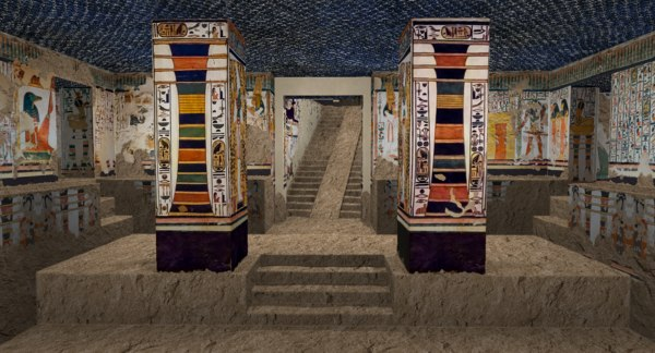 3D tomb queen nefertari model