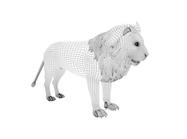 lion set rig 3D model