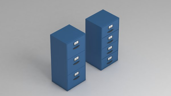 metal drawers storage offices 3D model