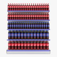 supermarket shelf beverage model