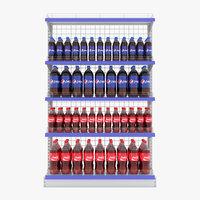 supermarket shelf beverage 3D model