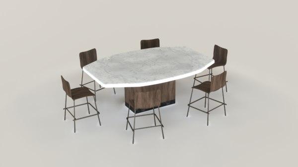 mavis dining table 3D model
