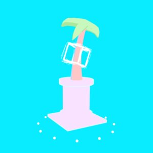vaporwave palm tree 3D