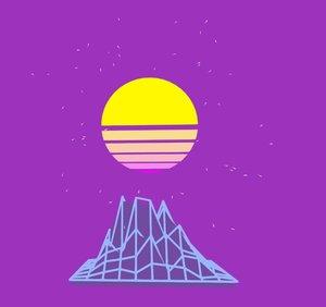 vaporwave sun 3D