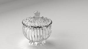 glass jar 2 3D model