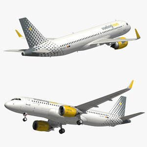 3D airbus a320 neo vueling model