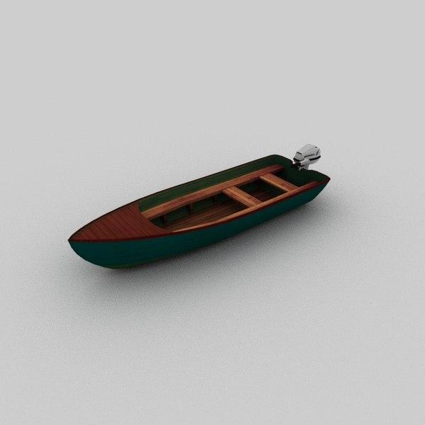 motorboat boat motor 3D model
