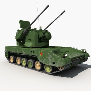 china pgz-09 self-propelled antiaircraft 3D model
