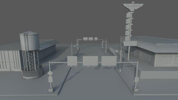 combo tower 3D model