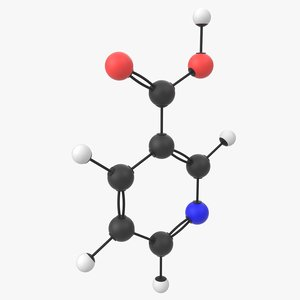 3D model vitamin b3 niacin molecule