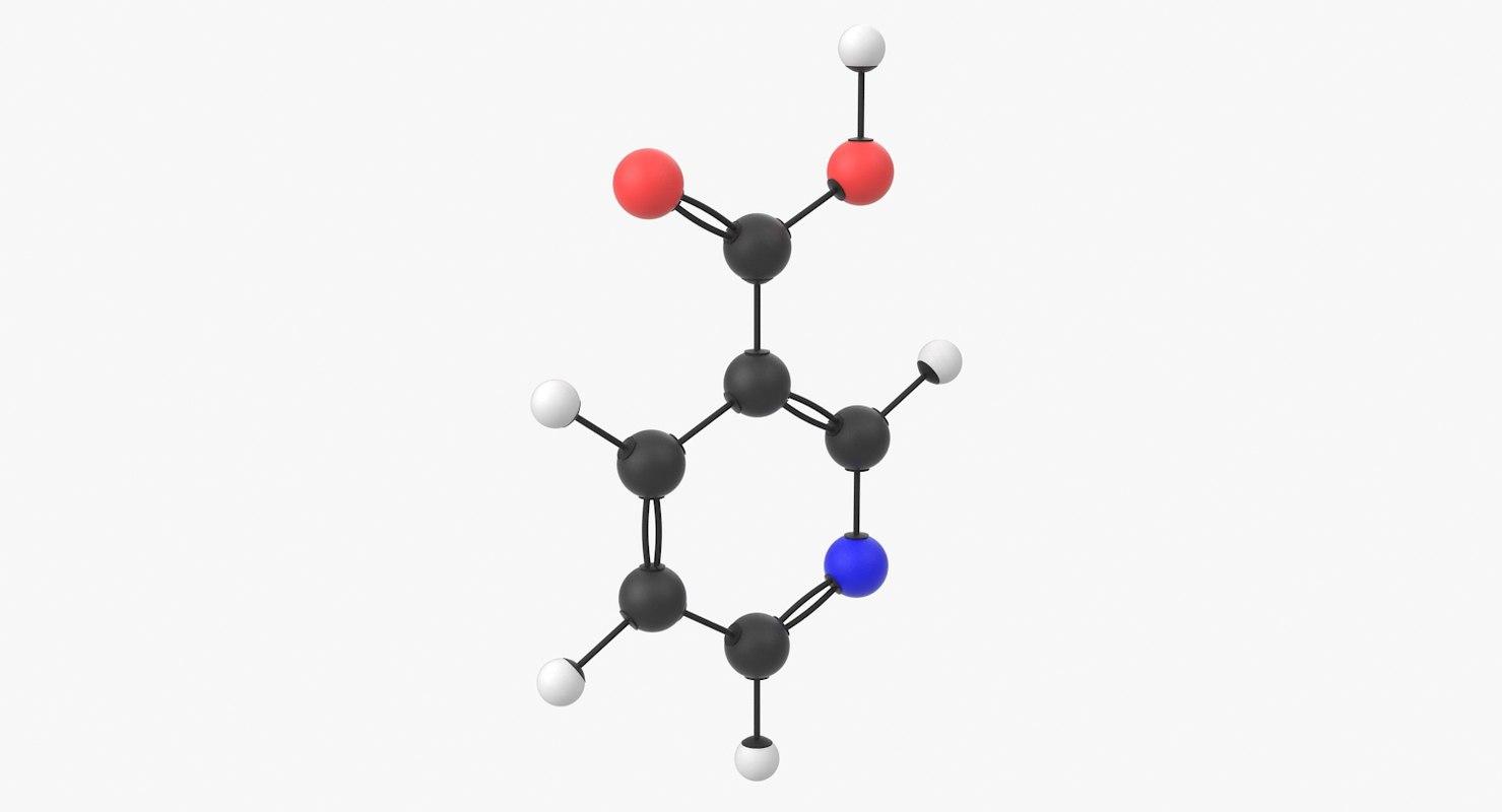 3D Model Vitamin B3 Niacin Molecule