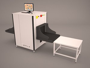 3D airport security officer xray model