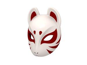 japanese fox mask 3D model
