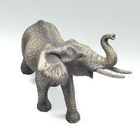Elephant Sculpture 3d