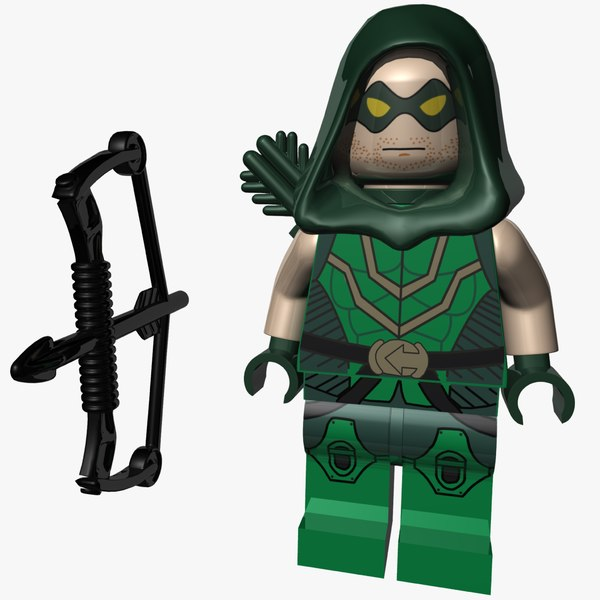 lego green arrow 3D