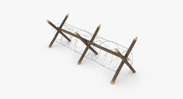3D barbed wire fence wwi