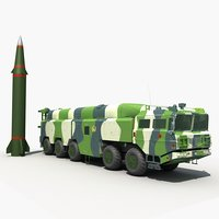 3D model china df-16 ballistic missile