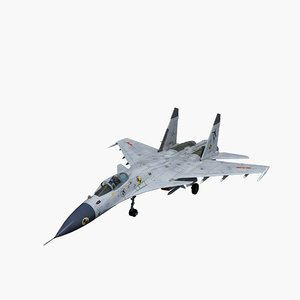 china j-15 flying shark 3D model