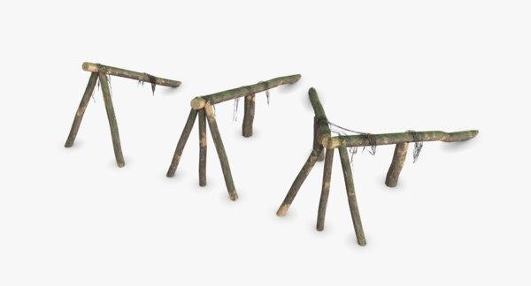 3D logs ramps wwii german