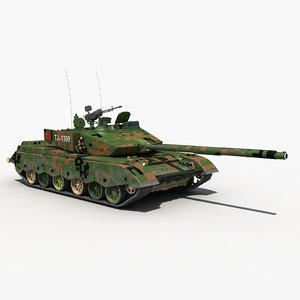 china ztz-99a mbt 3D model