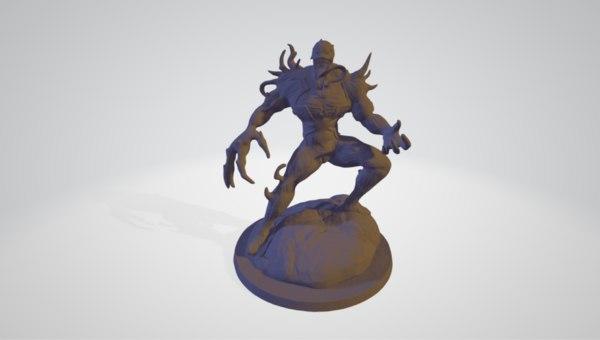 3D model anti venom statue
