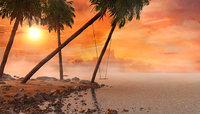 3D beach swing sunset model